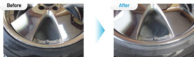 アルマイトのリムのガリ傷リペア / ポリッシュ仕上げ